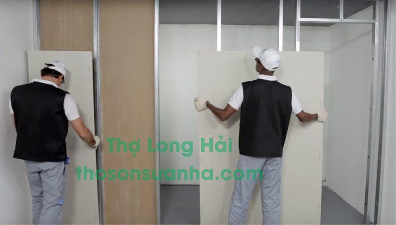Thợ thi công thạch cao tại Hà Nội