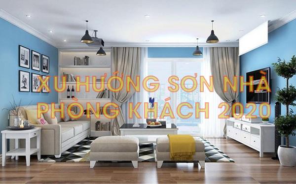Màu sơn phòng khách 2020