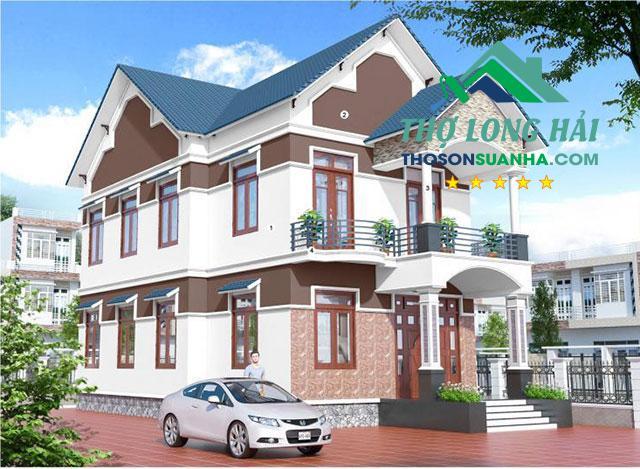 Với màu sơn màu sơn White BS 9102 giúp căn nhà nổi bật hơn kiến trúc và tạo nét đẹp riêng với sự kết hợp với màu mái xanh hay các vị trí trang trí khác