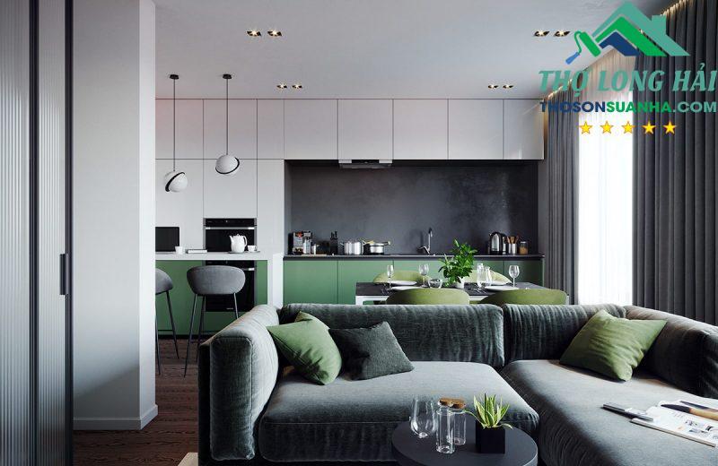 Nhẹ nhàng, hiện đại tạo một không gian sang trọng mà thân thiện đối với khách đến nhà