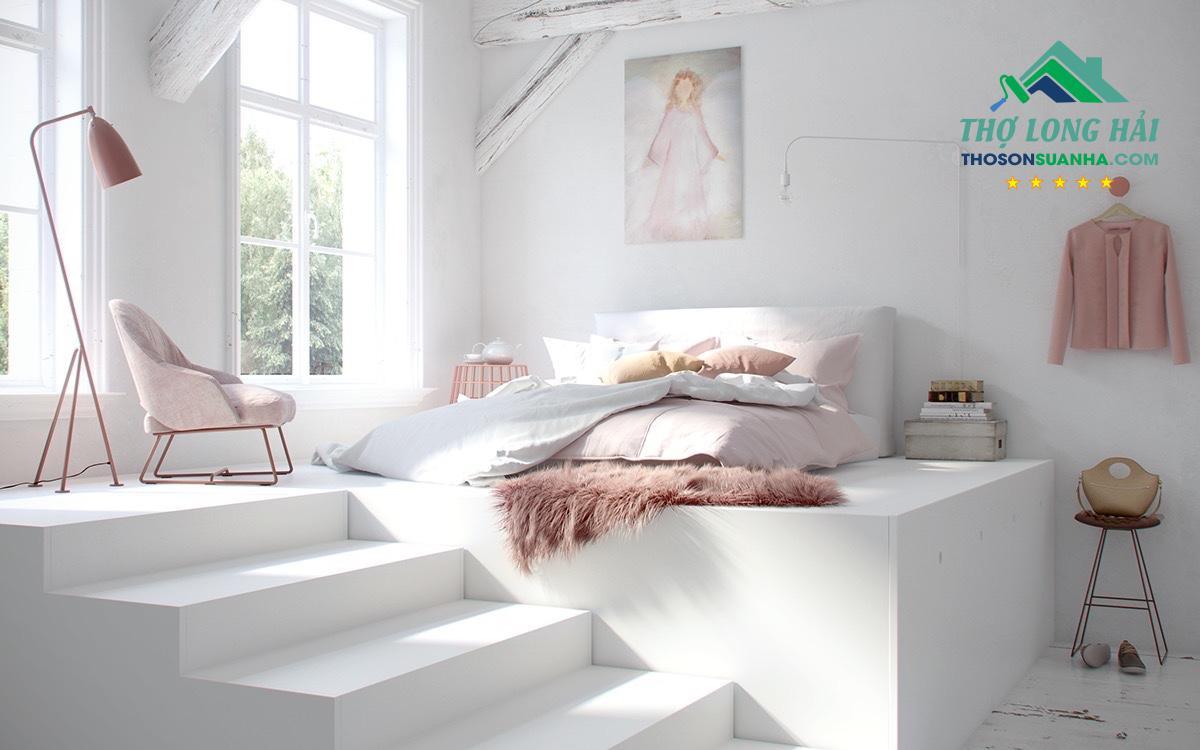 Trang trí tường màu trắng